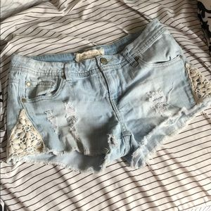 Altard State Jean Shorts with Lace